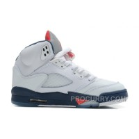 Air Jordans 5 Retro White/Varsity Red-Obsidian For Sale Discount