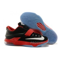 Cheap Nike KD 7 Black Red White For Sale Discount