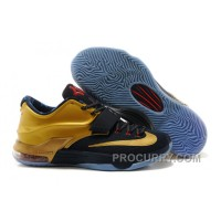 "Cheap Nike KD 7 Premium ""Gold Medal"" Midnight Navy/Metallic Gold-Red Lastest"