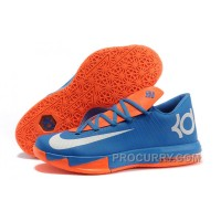 Nike Kevin Durant KD 6 VI Royal Blue/Orange-White For Sale Discount
