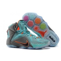 "Nike LeBron 12 ""Miami Dolphins"" Turquoise/Grey-Crimson-Black For Sale New Arrival"