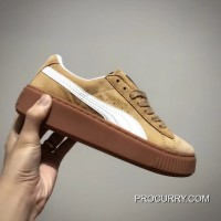 Puma Suede Platform Mono Satin ZH Brown Authentic