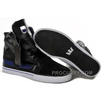 Supra Skytop II Mens Black Blue