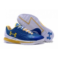 Free Shipping Under Armour Curry One Low Kids Shoes Blue White Home Sneaker CHXrsN