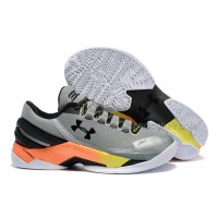 "Discount Under Armour Curry 2 Low ""Iron Sharpens Iron"" Grey/Yellow-Orange"