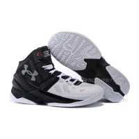 "Under Armour Curry 2 ""Suit & Tie"" Black White Red Shoes For Sale Discount"