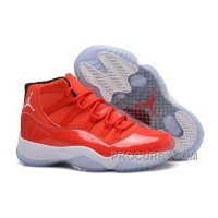 "Girls Air Jordan 11 GS ""Carmelo Anthony"" PE Red White For Sale Womens Online"