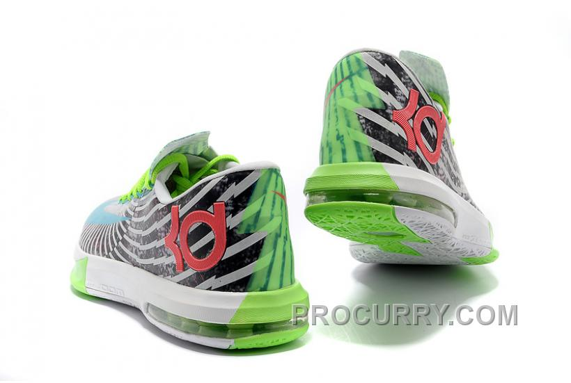 best loved a3ebb d5d18 Nike Kevin Durant KD 6 VI Star Green Black-White For Sale New Arrival